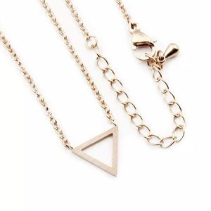 Jewelry - 4 for $25 stainless steel triangle necklace